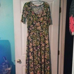 Lularoe Floral Maxi Ana Dress